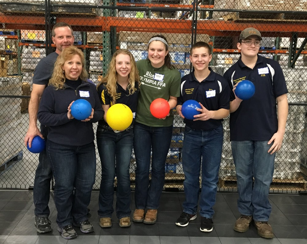 "Olympia FFA Members ""Dodge"" Hunger with Section 9 FFA"