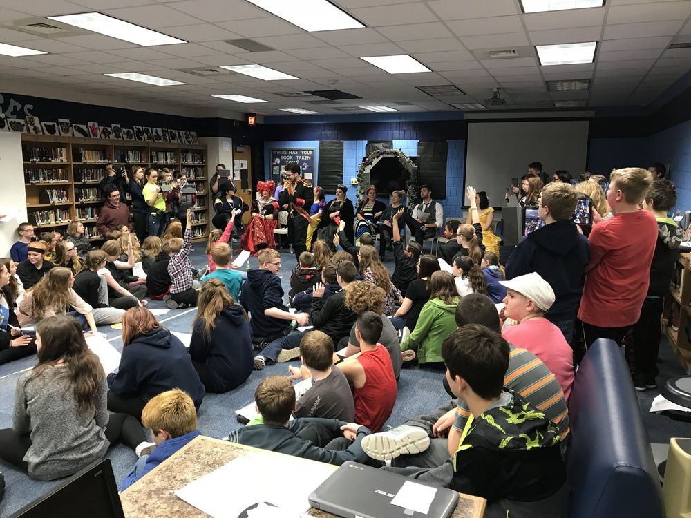 7th Grade Students Participate in Mystery Simulation