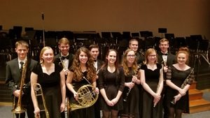 OHS Students Participate in Illini Prairie Band Concert