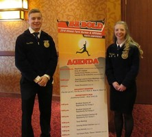 Two Olympia FFA Juniors attend Farm Bureau Youth Conference