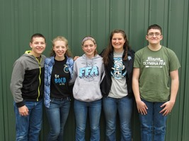 Olympia FFA places at Section 9 Livestock Judging!