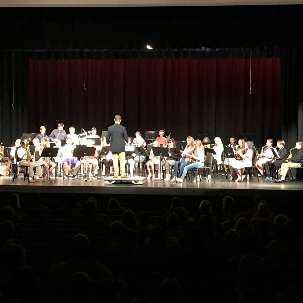 OMS Band Students Shine at Spring Concert