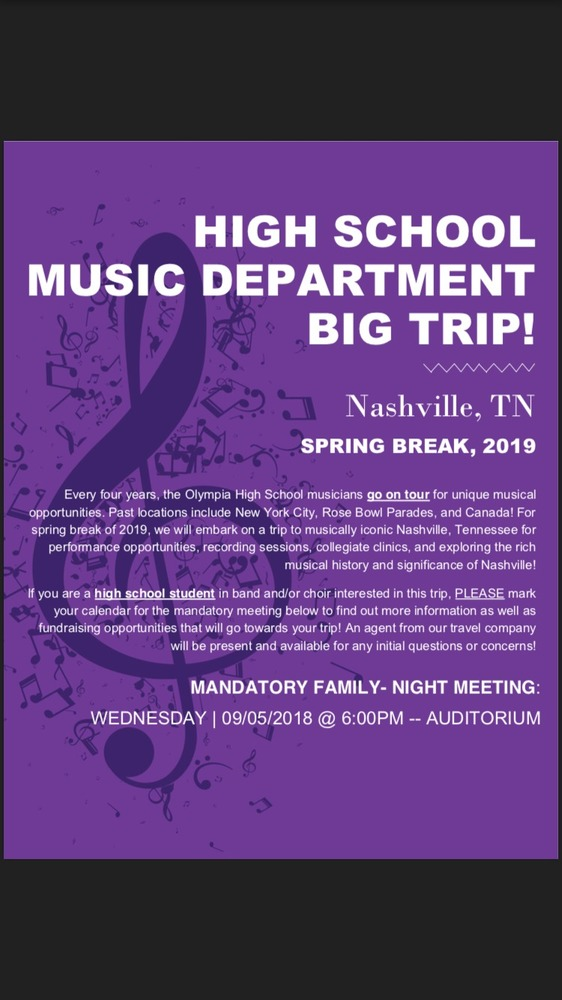 HS Music Department Big Trip