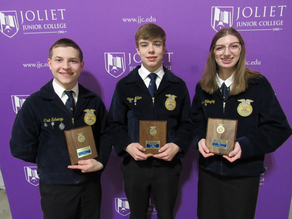 Olympia FFA has Three RECOGNIZED AS Section 9 FFA PROFICIENCY WINNERS