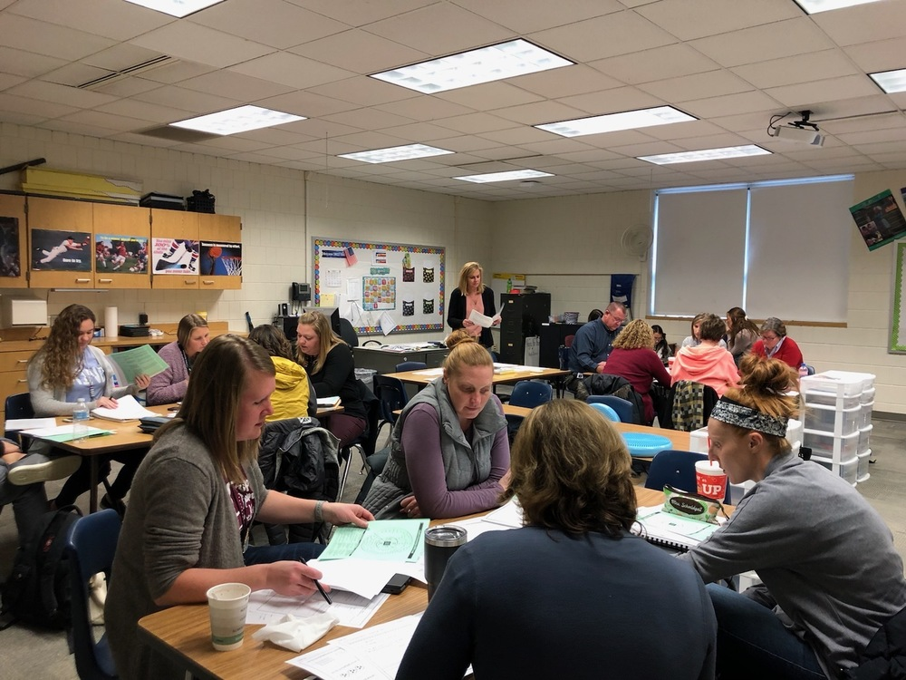 Elementary Teachers Collaborated on the Early Release Day