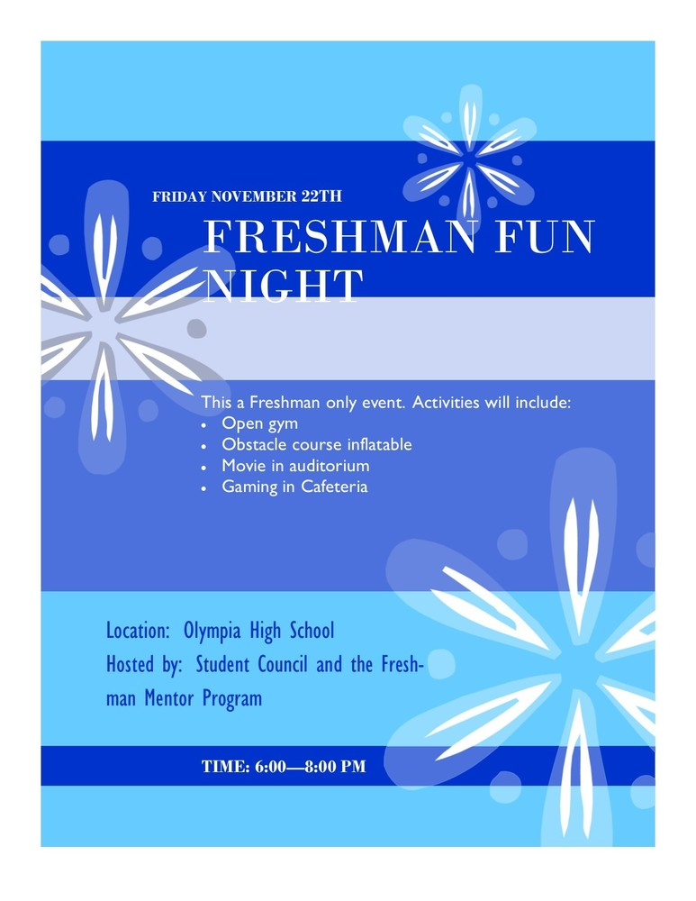 OHS Student Council to Host Freshman Fun Night