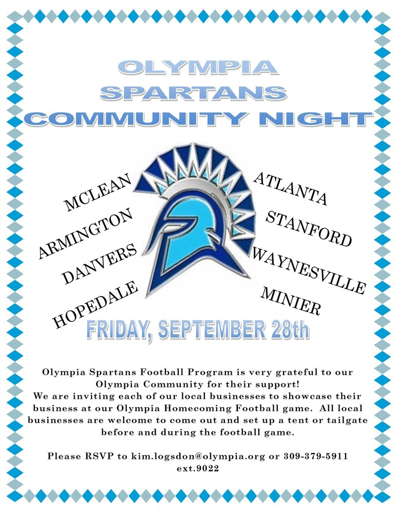 Olympia Spartans Community Night