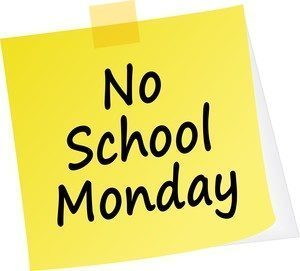 Reminder: No School Monday (4/26/21)