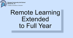 Update: Remote Learning Extended