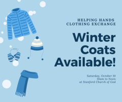 Winter Coats Available October 10th