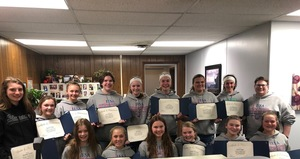 OMS Girl's Basketball Team Recognized by Board