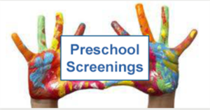 Preschool Screenings Scheduled for August