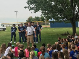 OHS Football Team Visits OWE