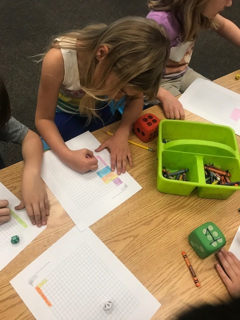 Rolling the dice to find the number of rows and columns!
