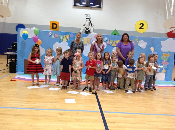 AM Preschool Class and teachers