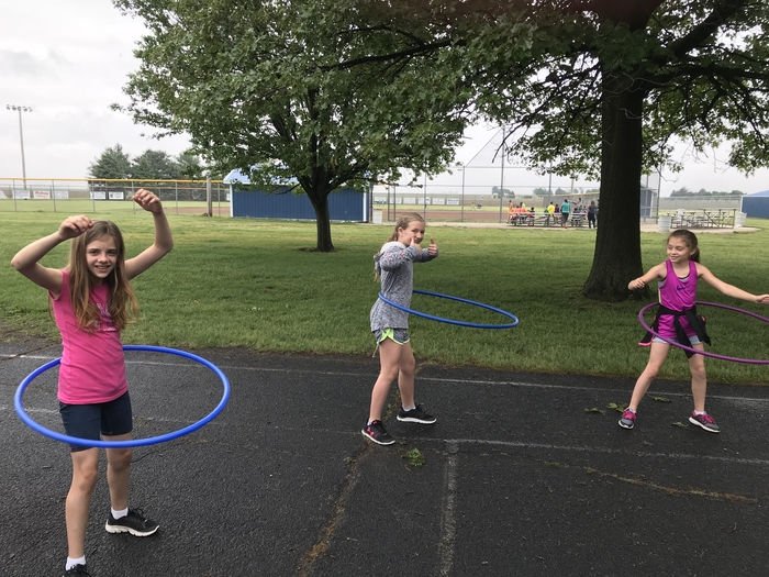 Hooping it up at Field Day