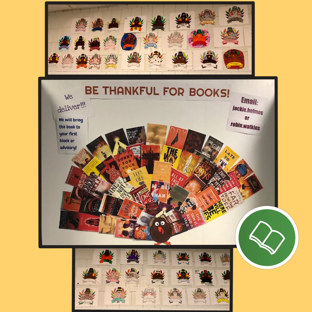 OMS students and staff created a display to spotlight our favorite books and authors. #ThankfulForBooks #ReadersAreLeaders
