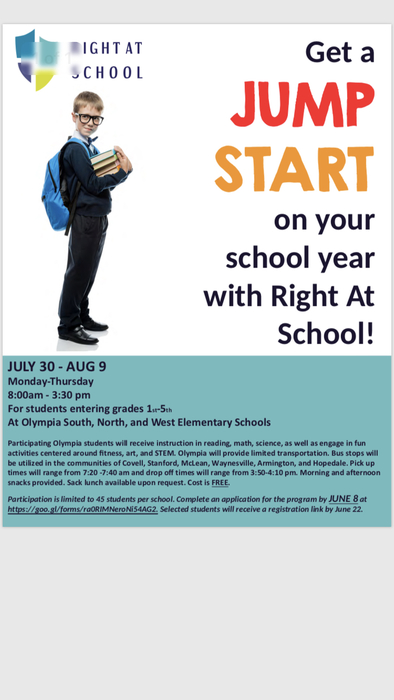 Jump Start to School FREE program!
