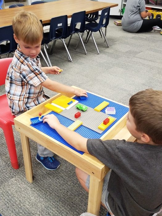 Lego table- where you can build legos and build a friendship.