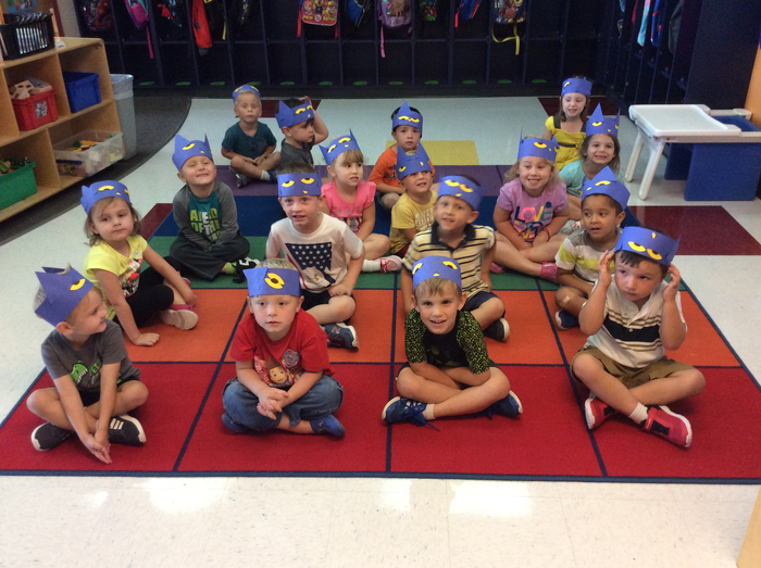 Morning Pre-K looks COOL in their Pete the Cat headbands!