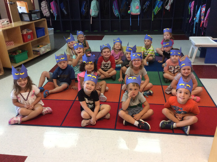 Afternoon Pre-K looking awesome in their Pete the Cat headbands!