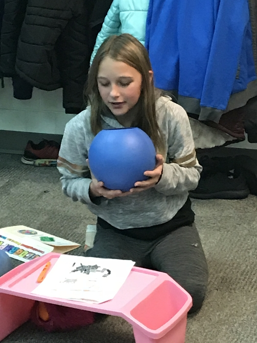 Reading geography while using the Qball.