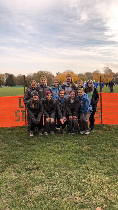 2018 girls XC 11th place at state meet
