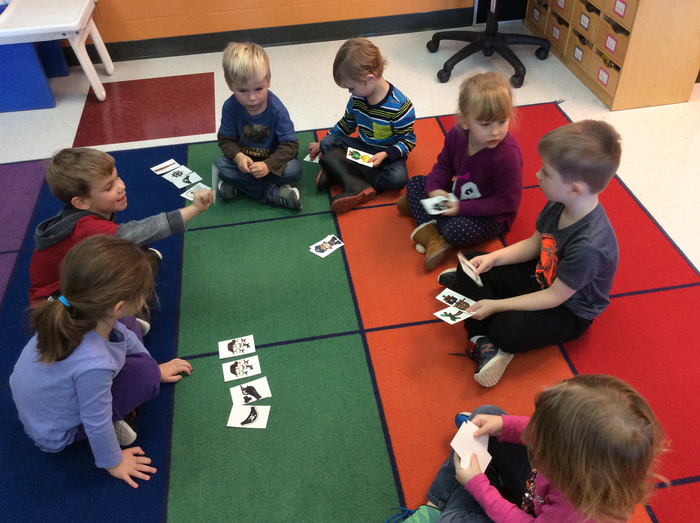 AM Pre-K playing Skull and Crossbones
