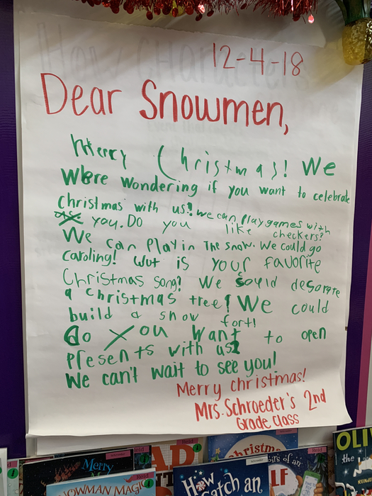 Our Class Letter!