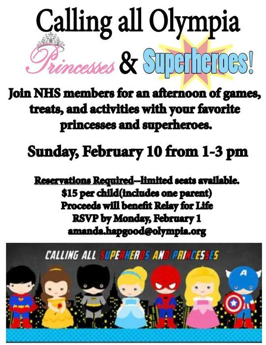 Calling all Princesses & Superheroes