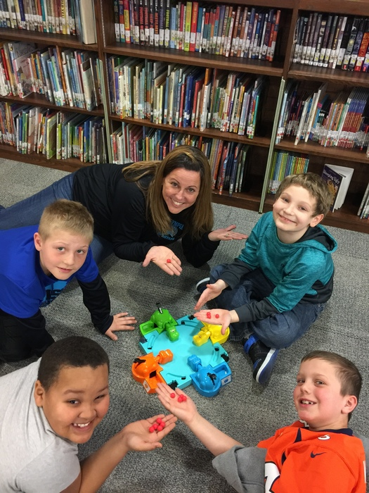 Mrs. Rogers Plays Hungry, Hungry Hippos