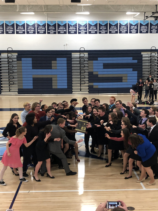Olympia and Bloomington speech had fun fighting over the first place to eat regional