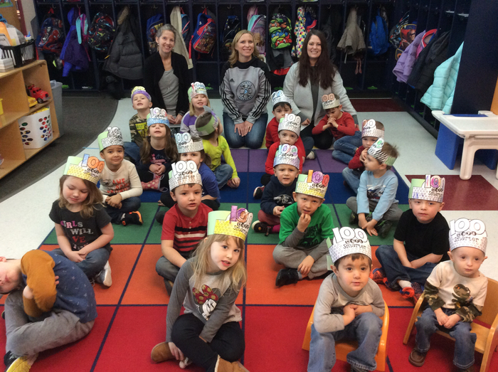 Morning Pre-K celebrates 100th Day of School
