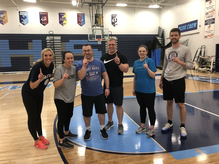 Faculty team wins volleyball!