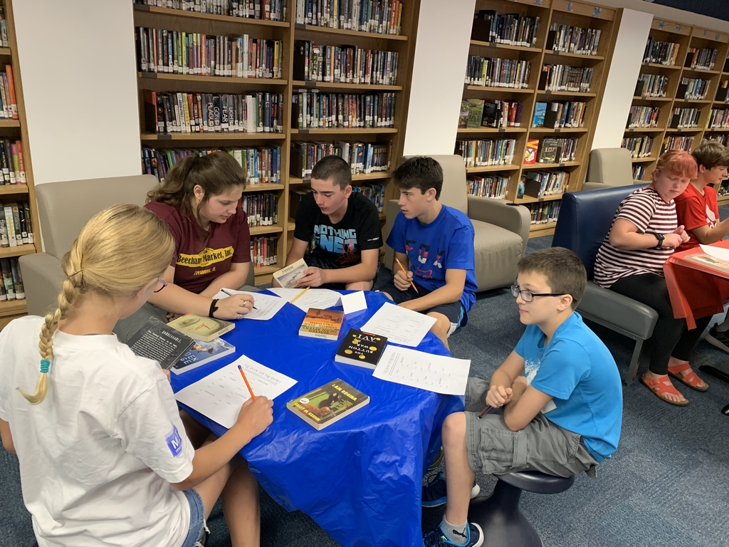 7th grade students examine historical fiction texts.