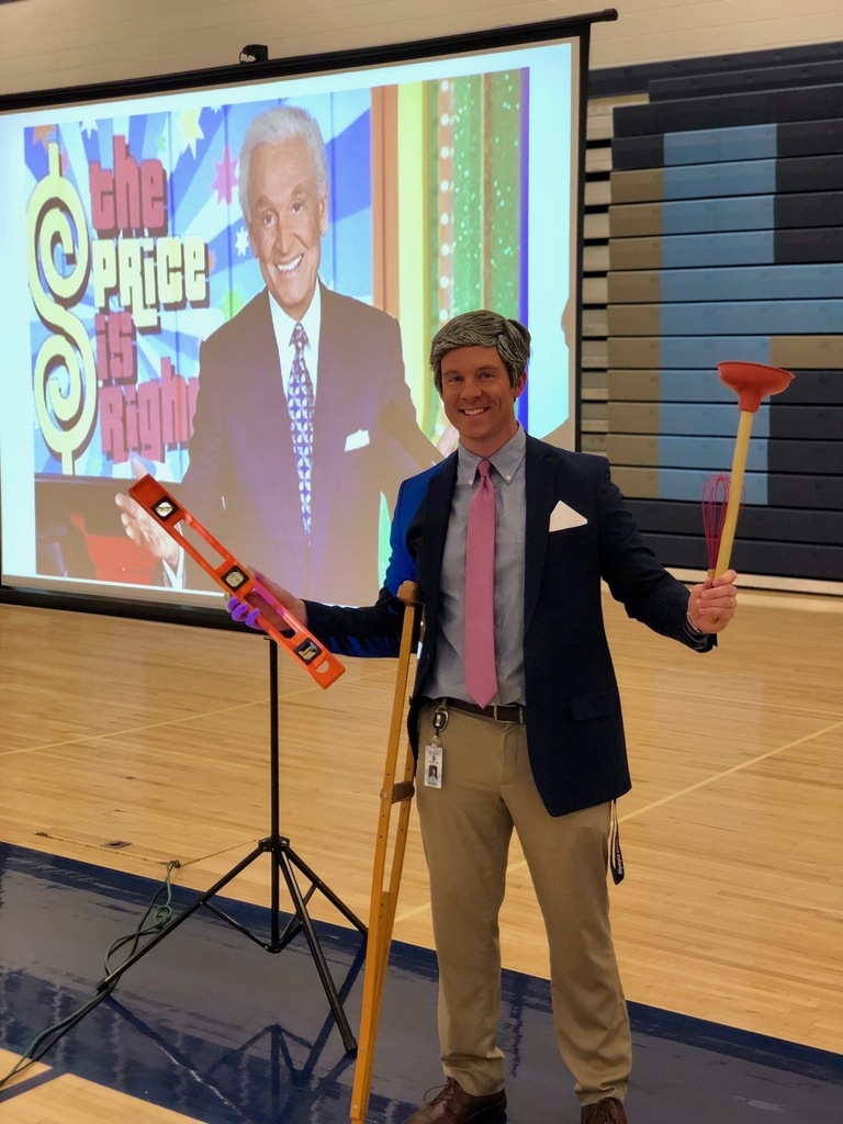 "Mr. Jones portrays Bob Barker in ""The Career is Right!"""