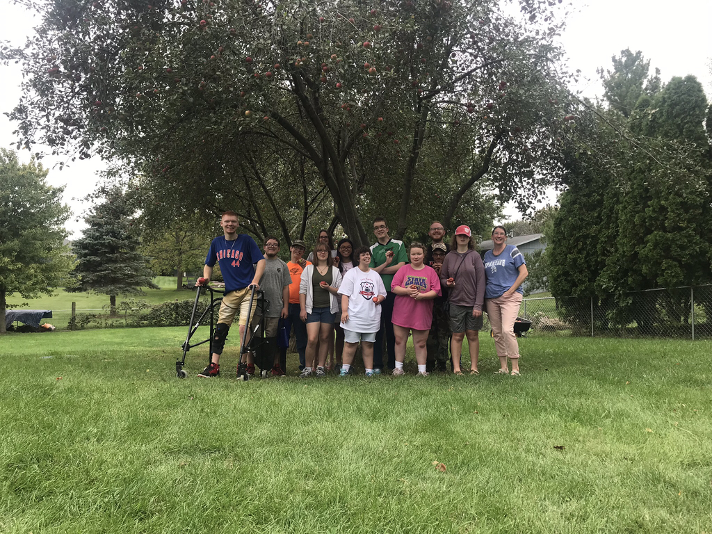 Mrs. Shelton invited Mr. Kris and Mrs. Anderson's Life Skills to pick fresh apples, grapes, and feed chickens. Fall is in the air!