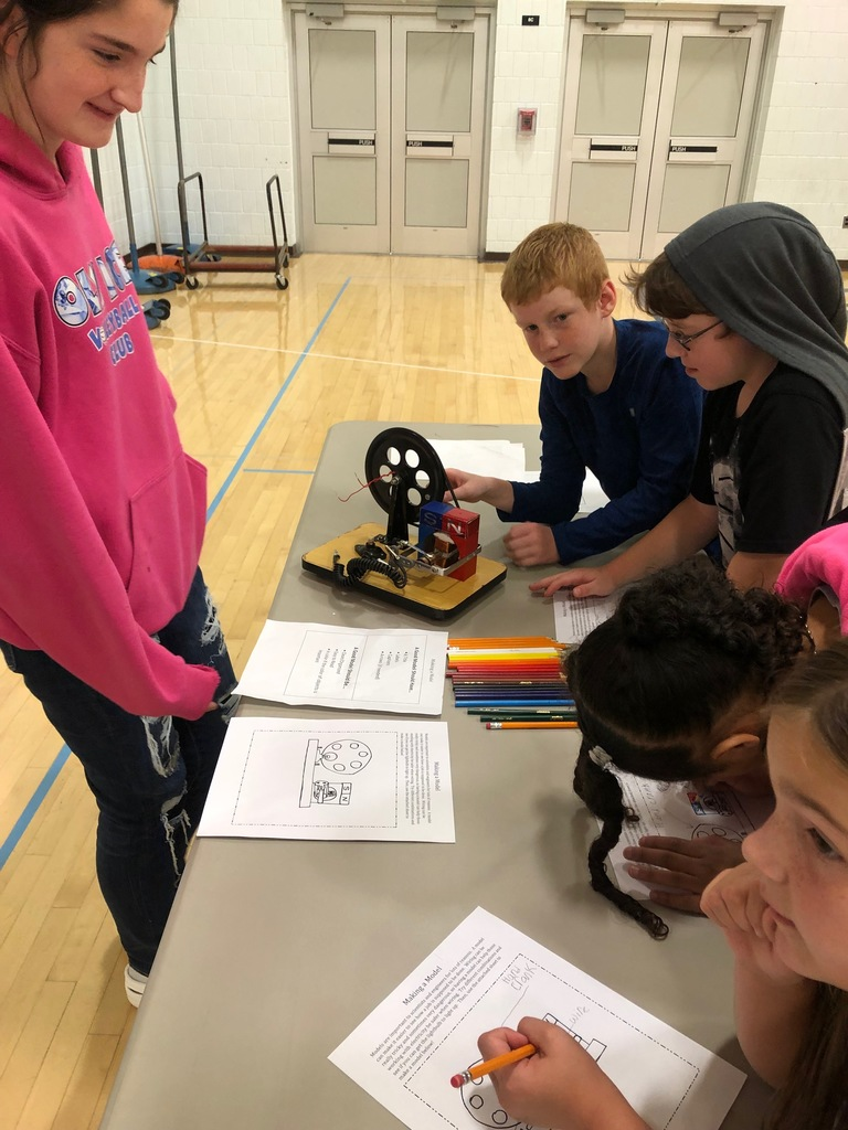 Students investigation how a hand crank generator works.