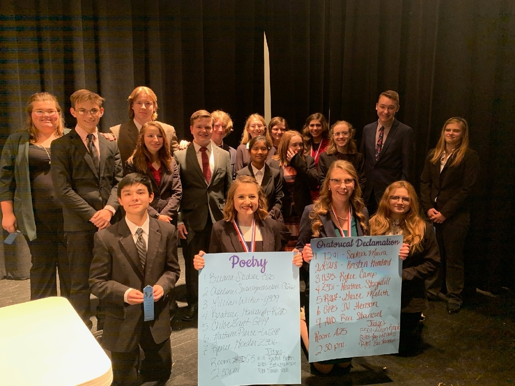 Olympia High School Speech Team at their first tournament of the year!