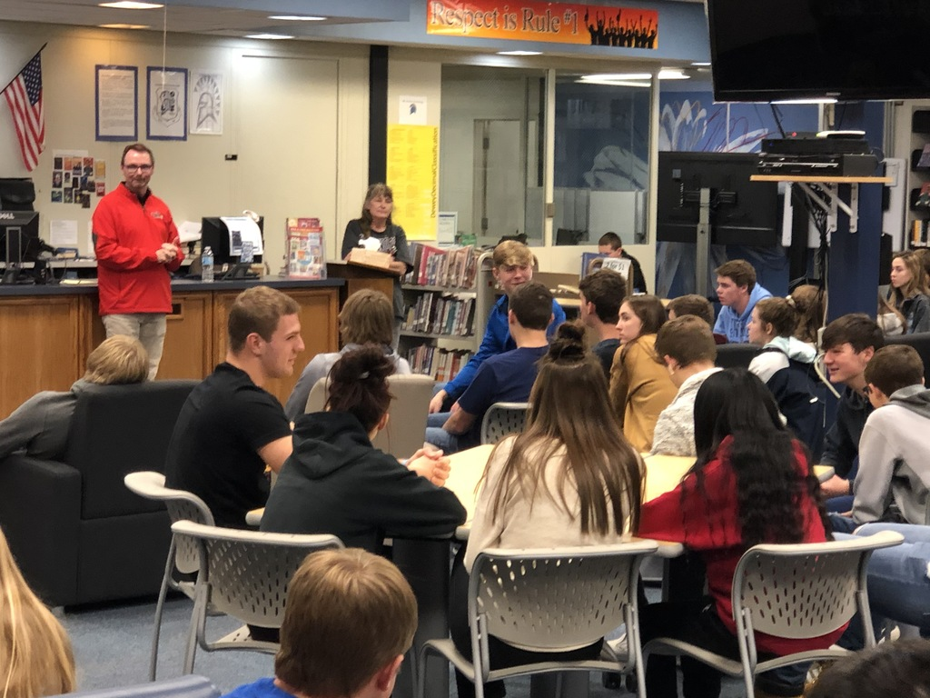 Keith Smith shared with students his experiences as an ISU Athletic Facilities Manager.
