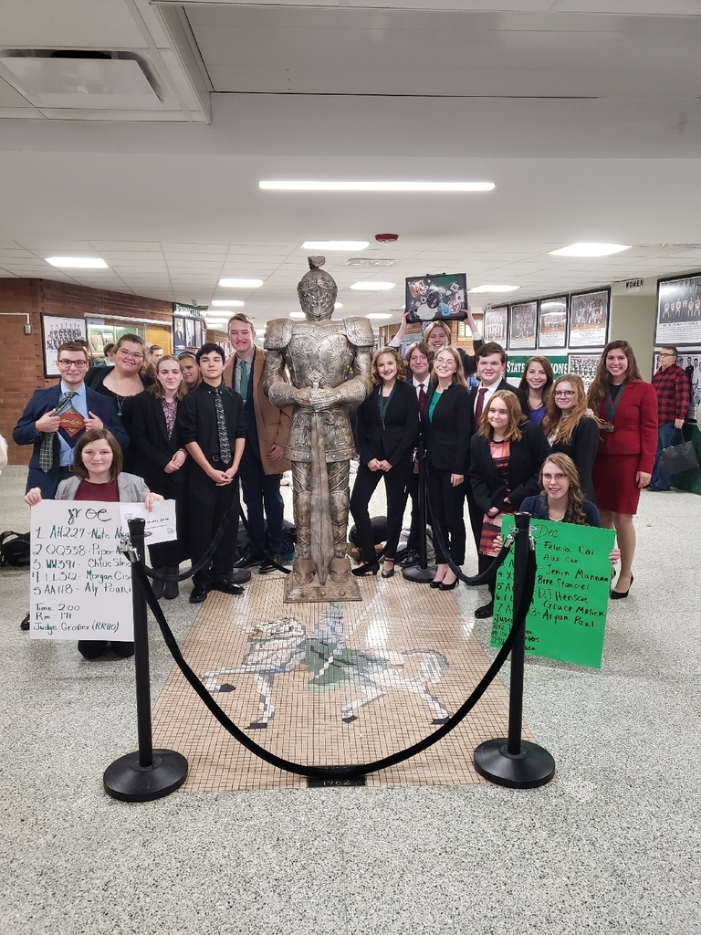 The Olympia Speech Team at Richwoods High School on Saturday.