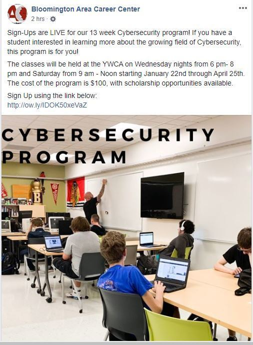 Cybersecurity Program Sign-up Information