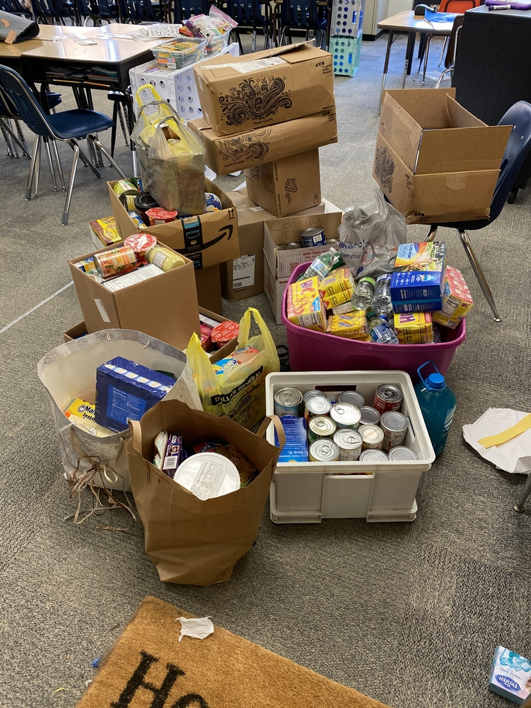 Food collected from the food drive.