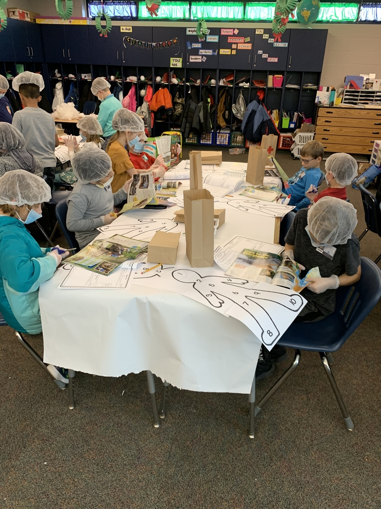 Third graders performed nonfiction text feature surgery.