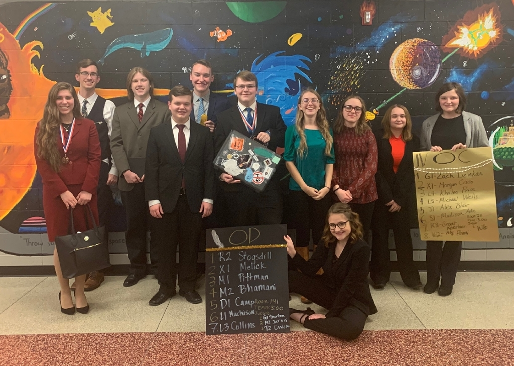 Olympia High School Speech Team at Glenwood High School