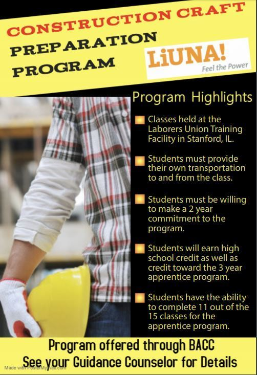 Construction Craft Preparation Program Flyer
