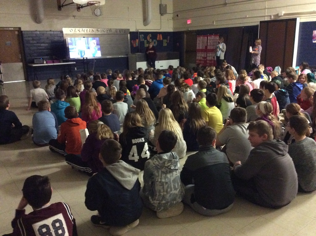 Students enjoy movie and popcorn day