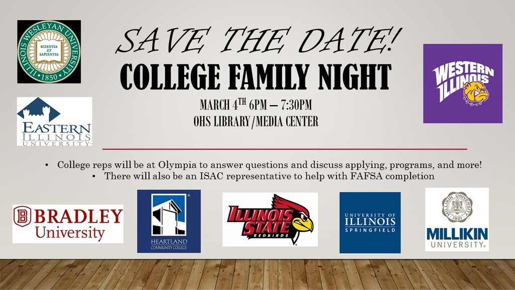 College Family Night at Olympia