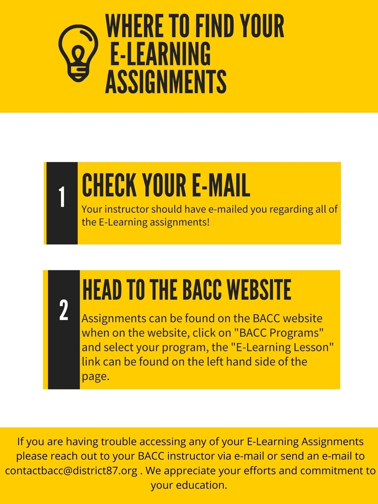 BACC Distance Learning Instructions