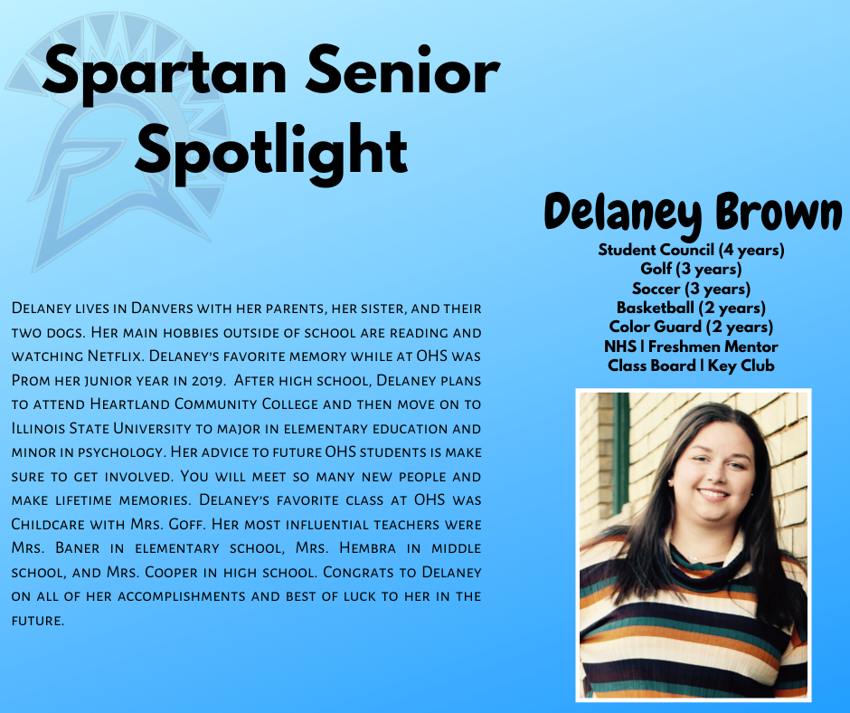 Spartan Senior Spotlight-Delaney Brown